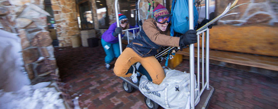Shop Packs and Gear at Patagonia Burlington. Photograph by Woods Wheatcroft.